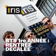 Rentrée décalée du BTS à l'école Iris